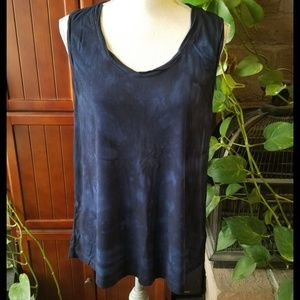 Tahari Brand Tie Dyed Jersey Knit Tank Top